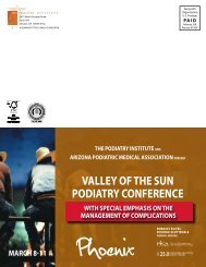 valley of the sun podiatry conference - The Podiatry Institute