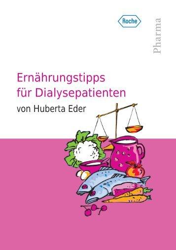 Ernährungstipps für Dialysepatienten