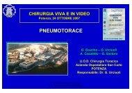 PNEUMOTORACE - Ospedale San Carlo
