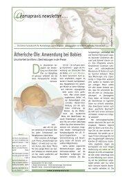 Ätherische Öle: Anwendung bei Babies - Eliane Zimmermann