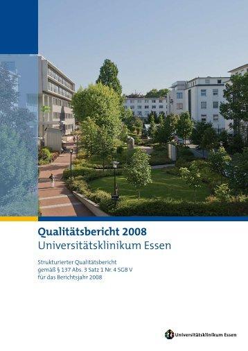 Qualitätsbericht 2008 Universitätsklinikum Essen