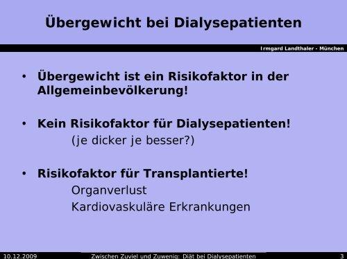 Zwischen Zuviel und Zuwenig: Diät bei Dialysepatienten - AKE