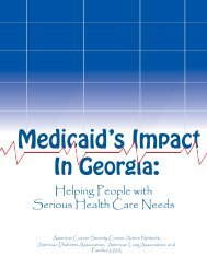 Medicaid's Impact in Georgia - American Lung Association
