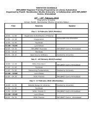 IRTPLA Schedule-RSU.pdf - INFLIBNET Centre