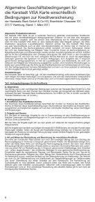 Allgemeine Teilnahme bedingungen für die Karstadt VISA Karte - Page 6
