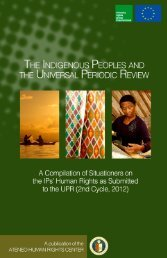 Indigenous Peoples - Internal Displacement Monitoring Centre