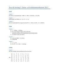 Svar till övning 1 i Dator och telekommunikation 2011