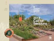 2013 Call for Sessions - American Public Gardens Association