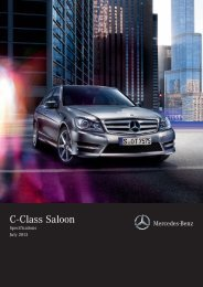 Mercedes-Benz C-Class Sedan Equipment & Specifications