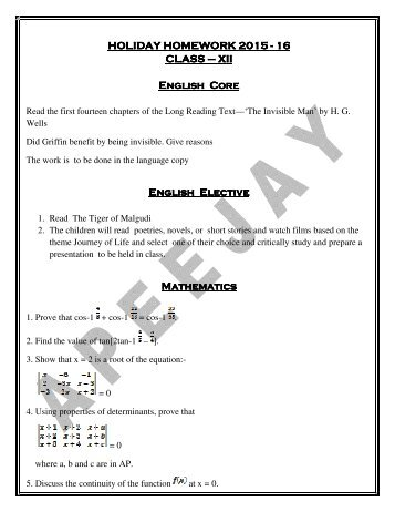 dps raipur junior holiday homework 2014