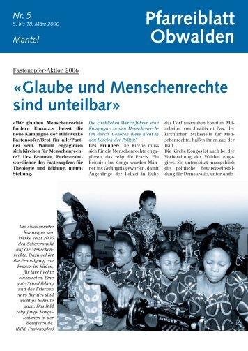 Pfarreiblatt 5 - Kirche Obwalden