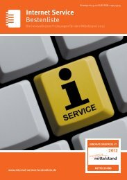 Bestenliste Internet Service - IT-Bestenliste
