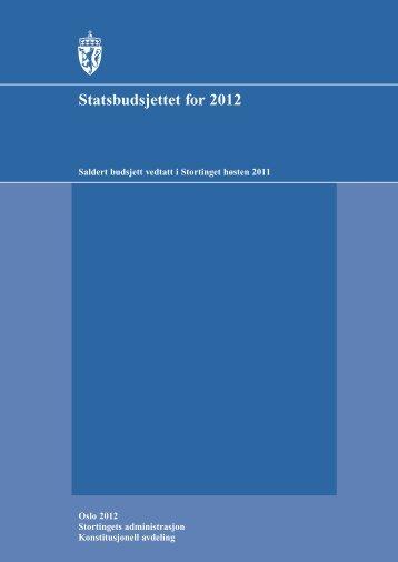 Vedtatt budsjett for 2012 - Stortinget