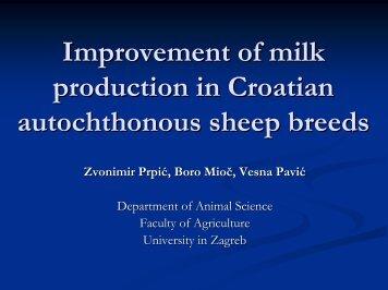 Improvement of milk production in Croatian autochthonous ... - dagene