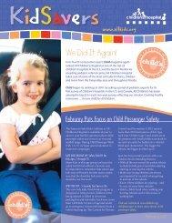 Download full KidSavers Newsletter (1.04MB - PDF) - All Children's ...