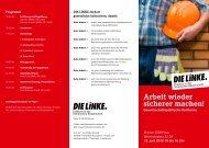 Arbeit wieder sicherer machen! - Fraktion DIE LINKE in Bremen