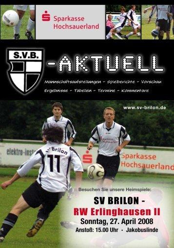 """11. Ausgabe 2007/2008 von """"SVB-aktuell"""" - SV 20 Brilon"""