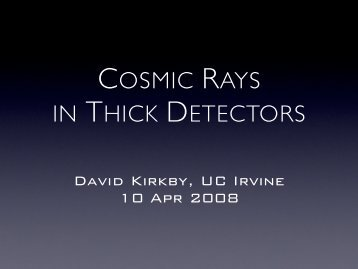 COSMIC RAYS IN THICK DETECTORS