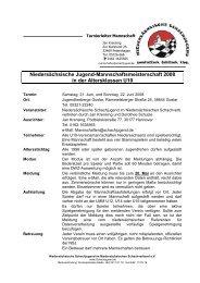 Ausschreibung LMM u10 2008 - Niedersächsische Schachjugend