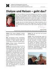 Dialyse und Reisen – geht das? - Verband Nierenpatienten Schweiz