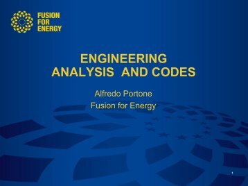 Engineering analysis and Codes - Iter Industry