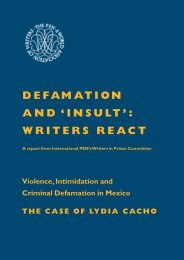 DEFAMATION AND 'INSULT': WRITERS REACT - PEN International