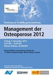 Management der Osteoporose 2012 - MedEvent