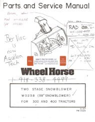 WHEEL HORSE TECUMSEH ENGINES PARTS MANUAL H60 75117D 75118D 6 0 H P