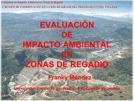evaluación de impacto ambiental en zonas de regadio