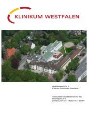 B Struktur - Knappschaftskrankenhaus Dortmund