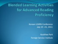 Blended Learning Activities for Advanced Reading Proficiency