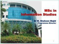 MSc in Information Studies