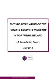 Future regulation of the private security industry in Northern Ireland