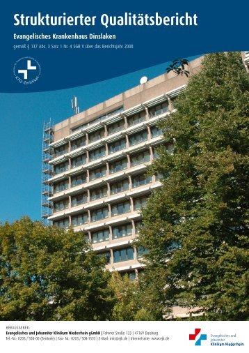 Strukturierter Qualitätsbericht Evangelisches Krankenhaus Dinslaken