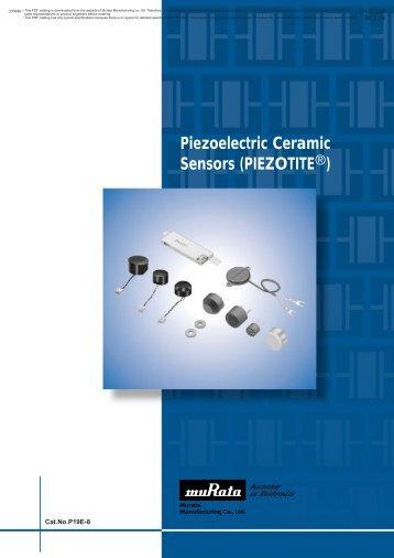 Piezoelectric Ceramic Sensors (PIEZOTITEr)