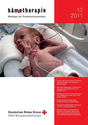 Deutsches Rotes Kreuz - DRK-Hämotherapie