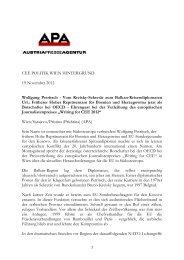 CEE POLITIK WIEN HINTERGRUND 19 November 2012 Wolfgang ...