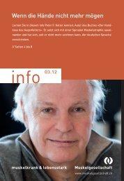 info 03.12 (PDF 4.3 MB) - Schweizerische Gesellschaft für ...