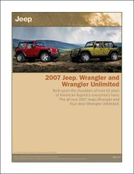 2007 Jeep® Wrangler and Wrangler Unlimited - Who-sells-it.com