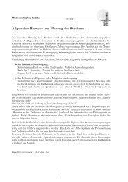 Kommentiertes Vorlesungsverzeichnis SS 2010 - Mathematisches ...