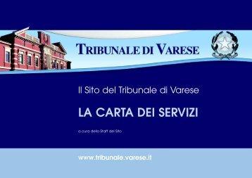 La Carta dei Servizi.qxd - Tribunale di Varese
