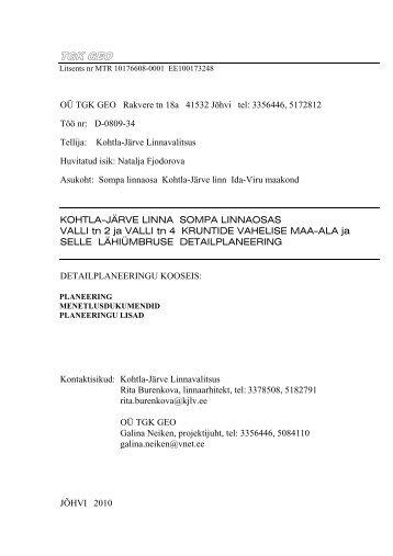 Seletuskiri - Kohtla-Järve
