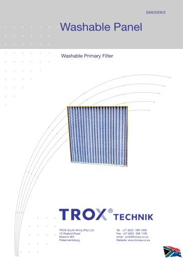 Washable Panel Filter - TROX