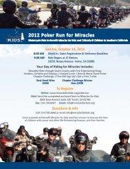2012 Poker Run for Miracles - JC Motors