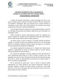 IMPIANTO AUTOMATICO PER LA SALDATURA DI ESTRUSI DI ...