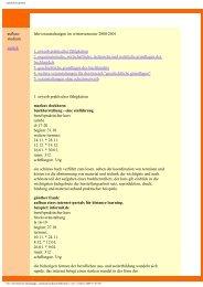 Aufbau Wintersemester 2000 / 2001 - Buchwissenschaft