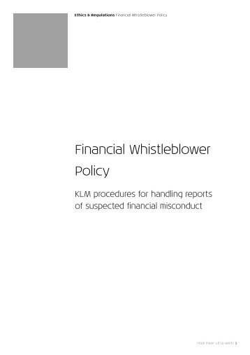 SPEAK OUT\' THE EDWARDS WHISTLEBLOWING POLICY