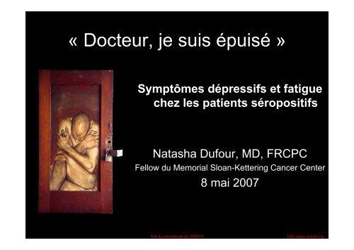 « Docteur, je suis épuisé » - Portail VIH / sida du Québec