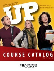Rochester College Course Catalog for 2013-14