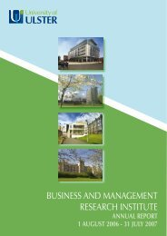 business and management research institute - University of Ulster